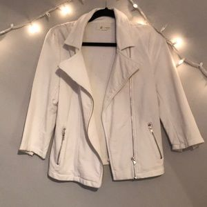Forever 21 White zipper cotton jacket size L